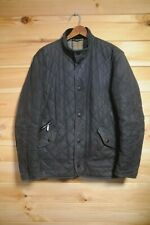 Barbour Wax Chelsea Sportcoat Jacket Small Blue Quilted Waxed