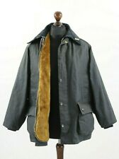 BARBOUR A105 BEDALE Waxed Jacket Coat Navy + Warm Pile Lining C 40 / 102 cm