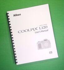 Nikon L120 Coolpix Camera 164 Page Laser 8.5X11
