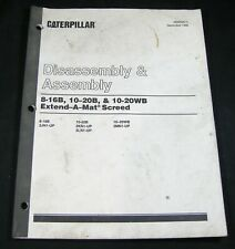 Caterpillar 8-16B 10-20B 10-20WB Extend A Mat Screed Disassembly Assembly Manual