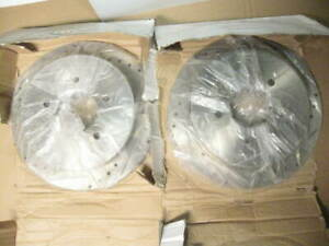 new, pair (left & right) rear brake rotors: Max Advanced; 54047; dril & slotted