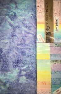 """Quilt, Sew, Fabric Kit Jelly Roll Charm   56"""" x 68"""" TT Batiks Tonga Treats Wish"""