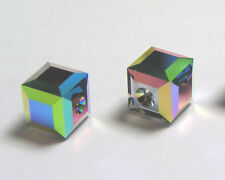 Pack of 2 Genuine Swarovski Elements 5601 8mm cube bead in crystal vitrail M B