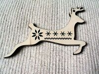 10 x wooden Christmas tree ornaments, decorations,  nordic pattern stars, hearts