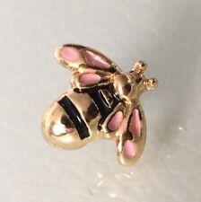 Oro Plateado Bumble Bee Rosa Encanto Para Pulseras Y Collar