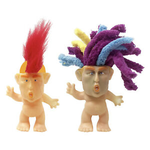 6cm Vintage Tiny Good Luck Troll Dolls Action Figures Kids Collectible Toys