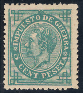 ALFONSO XII ** 183 - 5 cts verde - AÑO 1876 - MNH
