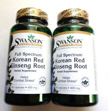 2 Lot Pack Korean Red Panax Ginseng Root Full Spectrum 400Mg (180) Pills Capsule