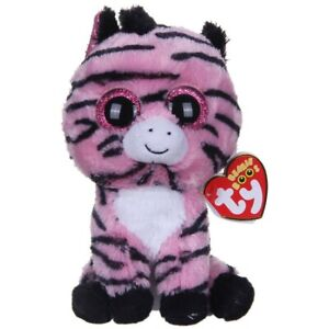 ZOEY THE PINK ZEBRA TY BEANIE BOOS  BRAND NEW WITH TAGS RETIRED HARD TO FIND
