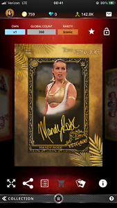 Topps WWE Slam Digital Vintage Mandy Rose  Iconic Signature