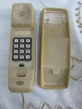 VINTAGE 1980's CREAM TANDY ET270 SLIM WALL MOUNTED TELEPHONE - WORKING