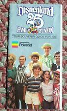 1980 Disneyland 25th Anniversary Family Reunion Souvenir Guide & Map Polaroid