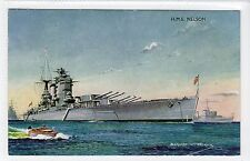 "HMS ""NELSON"": Naval shipping postcard (C15216)"