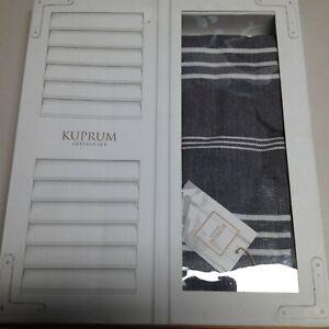 Peshtemal Turkish Hand Towel Set Bath Hand Gray White Fringed Turkey Cotton