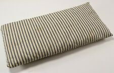 Antique 1800's Blue Striped Civil War Confederate Army Soldier Equipment Pillow