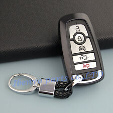 TPU Black Car Key Chain Holder For Ford Fusion Explorer Mustang Edge Accessories