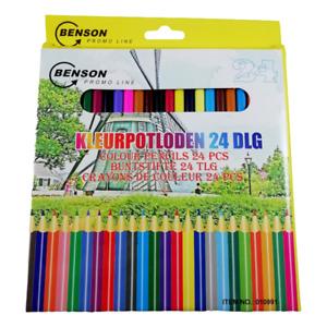 Set de 24 Crayons de Couleur 18cm Dessin Artiste Coloriage Enfant Adulte