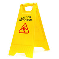 Caution Wet Floor Yellow Safety Sign Cleaning Slippery Warning Bright 2