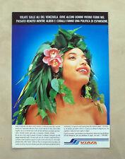 D365 - Advertising Pubblicità- 1988 - VIASA SULLE ALI DEL VENEZUELA