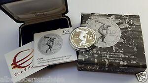 10 euro Italia 2014 Ag Fs PP Proof BE CONI 100 Fondazione Italie Italy Italien