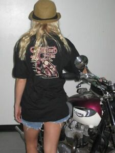 Steadfast Cycles Kneeslider M shirt Cafe Racer Triumph medium motorcycle tshirt