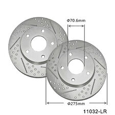 New 3Q 11032-LR Front Brake Rotors Disc Disk 1 Pair Left Right Performance Rotor