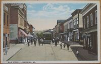 1920 Postcard: 'Main Street - Lonaconing, Maryland, MD'