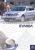 Daewoo Evanda Pressestimmen Prospekt 2003 brochure press reports Autoprospekt