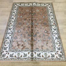 YILONG 4'x6' Oriental Handmade Silk Area Rug Floral Traditional Carpet L061C