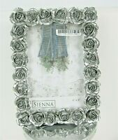 Sienna Square Victorian Rose Photo Picture Frame 4 x 6 Easel Desk Vanity New