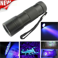 Mini UV Ultra Violet Torch Hanghold AAA 12*LED Flashlight Blacklight Light TS