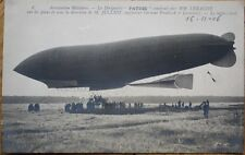 Airship/Dirigible/Blimp 1906 Realphoto French Aviation Postcard: Le Patrie - 3