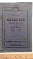 "1947 HERCULES ""Engine Parts List"" - Original Dealer Catalog - Brochure"