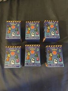 """AMONG US 2"""" Crewmate Lot of 6 Mini Figure Stamper Mystery Blind Box 2021 Toikido"""