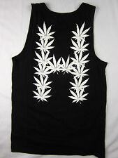 HUF Weed Bud Flag Premium Soft men's Tank top T Shirt black size MEDIUM