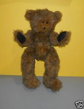 """18"""" Mixed Brown Fur Classic/Jointed Teddy Plush Signed Artists Foot Anita, 1999"""