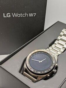 LG Watch W7 (W315) Stainless Steel Black Silicone Smartwatch