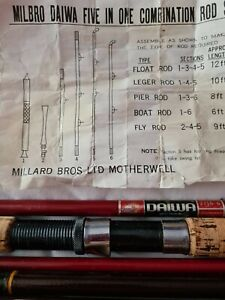DAIWA 5 IN ONE COMBINATION TRAVEL ROD SET ALL PARTS EXCELLENT