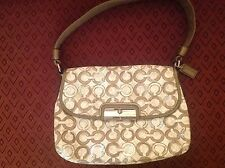 Coach Kristin Op Art Mushroom Taupe Signature Sequin Pouch - Style # 45088 NEW