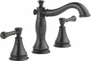 Delta Cassidy 2-Handle Widespread Bathroom Faucet, 3597LF-RBMPU, Venetian Bronze