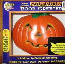 Halloween Pumpkin Door Greeter with Sound Flashing Eyes Record Your Own Message