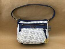 Women's Liz Claiborne Jess Top Zip White Monogram Shoulder Bag