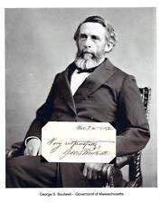 George S Boutwell Autograph Governor Senator Massachusetts Secretary Treasury