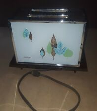 Vintage 1960 Sunbeam Glass Sided RARE Retro Toaster With Bakelite Bottom