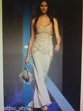 UNIQUE COLLECTIBLE CLASSY GORGEOUS VALENTINO lace cream silk gown size 8