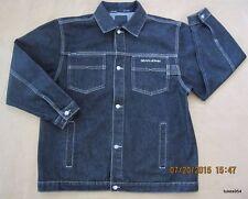 Boys Sean John Black Denim Pockets Collar Button Jacket Coat L-16-18