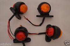 4 (FOUR) 24 VOLT LED REAR SIDE MARKER LIGHTS TRUCK TRAILER / HGV RED/AMBER LAMPS