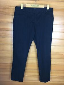 Cue Black Cotton Aust Made Business Work Pants Mid Rise Size 14 EUC