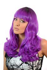 Shavonne Mid Length Thick Curly Burlesque Wig | 3 Pastel Shades | Full Fringe