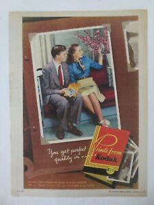 Vintage Australian advertising 1949 ad KODAK FILM PRINTS photo photograph art